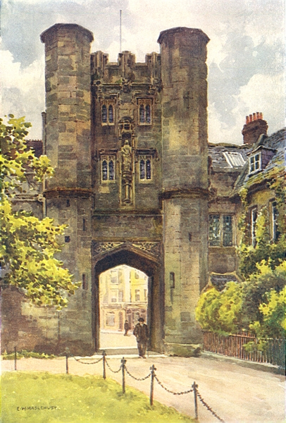 """Associate Product The """"Bishop's Eye"""", Wells. Somerset. By Ernest Haslehust 1920 old print"""