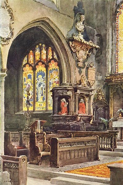 Associate Product In St. Olave's, Hart street. London. By Ernest Haslehust 1920 old print