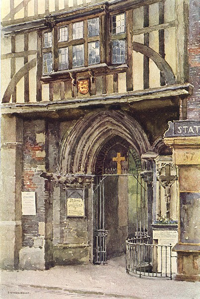 Associate Product The Gatehouse, St. Bartholomew the Great. London. By Ernest Haslehust 1920