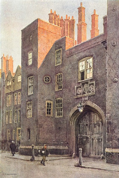 Associate Product The Gateway, Lincoln's Inn. London. By Ernest Haslehust 1920 old antique print