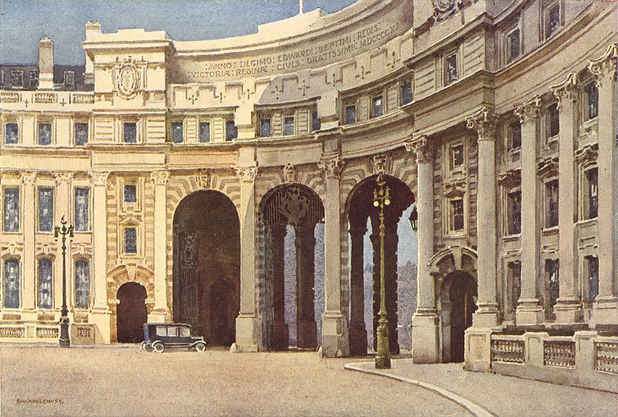 Associate Product The Admiralty Arch. London. By Ernest Haslehust 1920 old antique print picture