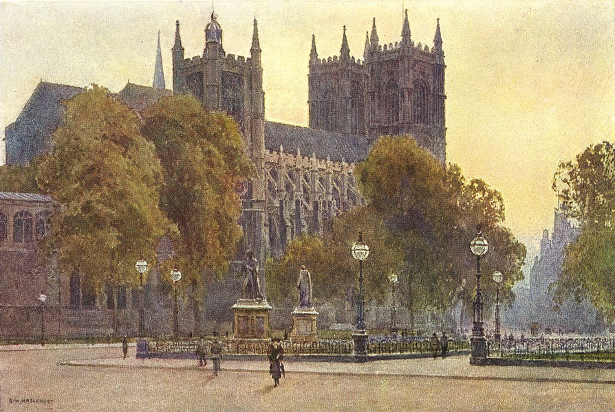 Associate Product Westminster Abbey. London. By Ernest Haslehust 1920 old antique print picture