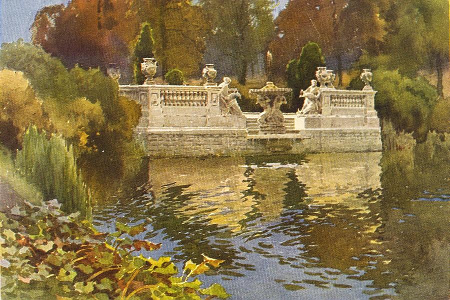Associate Product Lancaster gate fountain, Kensington Gardens. London. By Ernest Haslehust 1920