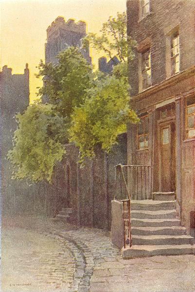 Associate Product Old Barrack Yard, Belgravia. London. By Ernest Haslehust 1920 print