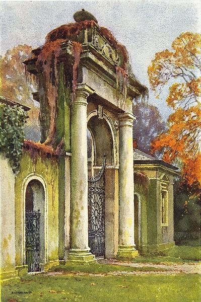 Associate Product The Gateway, Dyrham Park. London. By Ernest Haslehust 1920 old antique print
