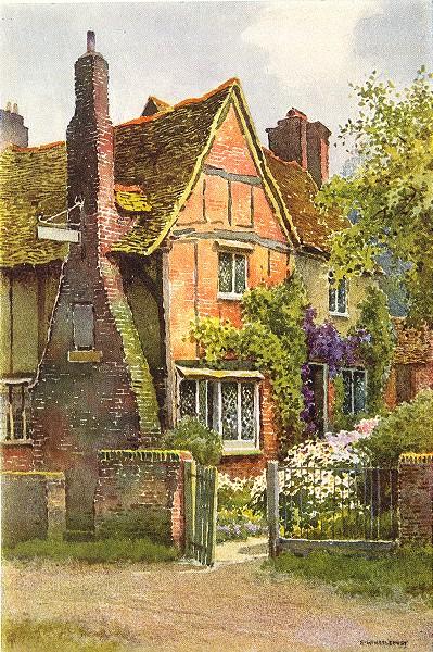 Associate Product Milton's Cottage, Chalfont St. Giles. Buckinghamshire. By Ernest Haslehust 1920