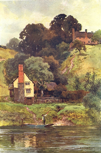 Associate Product Offa's Dyke at Bridge Sollers. Hereford. By Ernest Haslehust 1920 old print