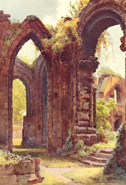 Associate Product St. John's Ruins, Chester. Cheshire. By Ernest Haslehust 1920 old print