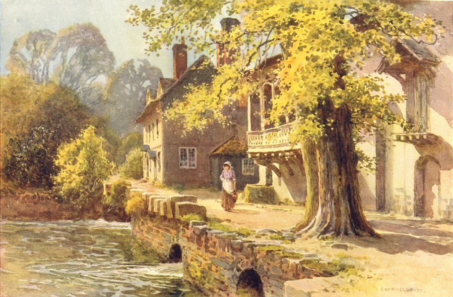 Associate Product Guy's Cliff Mill, Warwick. Warwickshire. By Ernest Haslehust 1920 old print