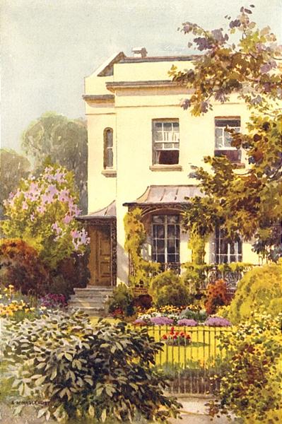 Associate Product Nathaniel Hawthorne's House, Leamington. Warwickshire. By Ernest Haslehust 1920