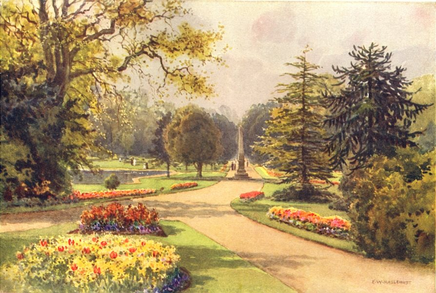 Associate Product In the Jephson Gardens, Leamington. Warwickshire. By Ernest Haslehust 1920