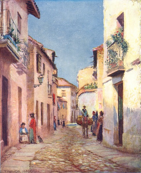 Associate Product SPAIN. Cordoba-A street scene 1908 old antique vintage print picture