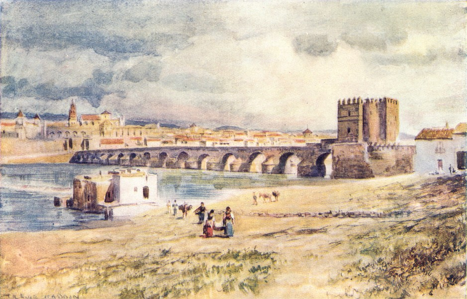 Associate Product SPAIN. Cordoba-The Bridge 1908 old antique vintage print picture