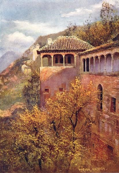 Associate Product SPAIN. Granada-Tocador de la Reina 1908 old antique vintage print picture