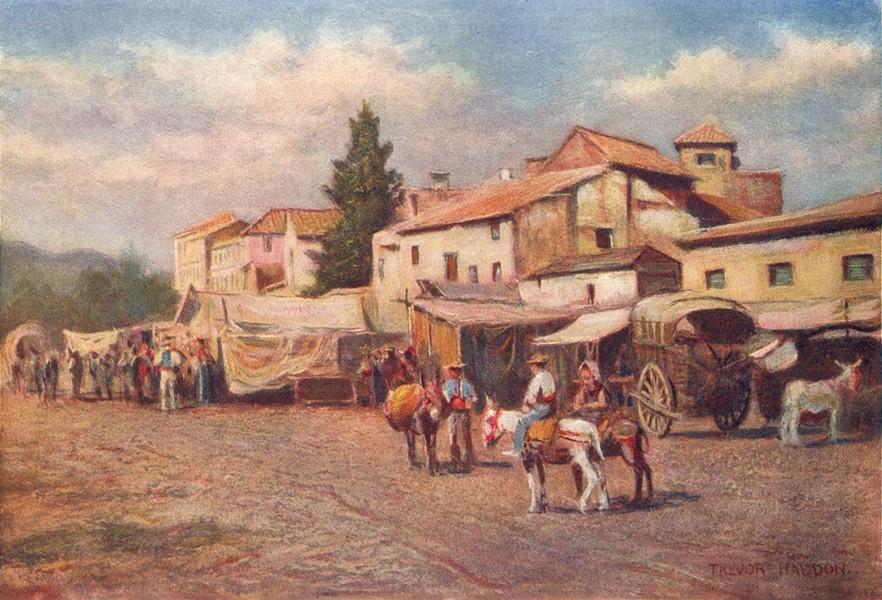 Associate Product SPAIN. Malaga-The Guadalmedina 1908 old antique vintage print picture