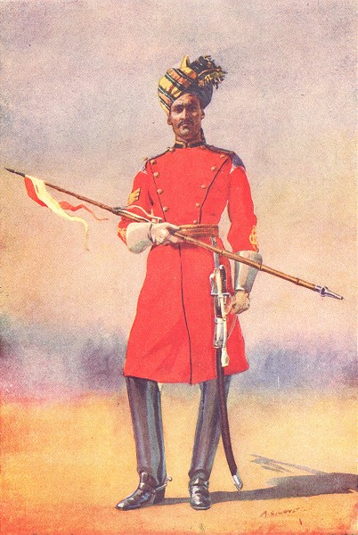 Associate Product INDIA. Gov-General's Bodyguard Daffadar Sayyid of Shahpur(Musalman) 1911 print