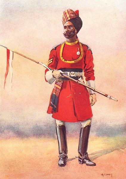 Associate Product INDIA. Army E India Co. Governor's Bodyguard, Chennai Madrasi Muslim 1911