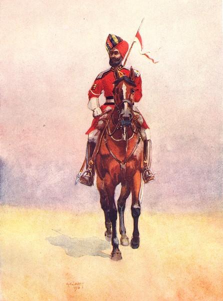 Associate Product INDIA. Army E India Co. Governor's Bodyguard, Mumbai Muslim Rajput 1911 print