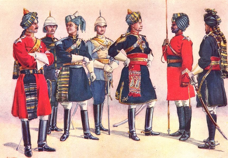 INDIA. 4th Cav. Daffadar Jat Sikh; 5th; 11th 16th 17th 23rd 26th Rgts 1911