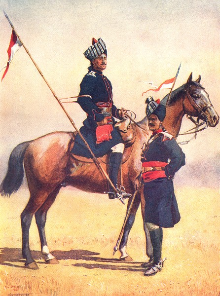 Associate Product INDIA. Army of East India Co. 6th King Edward's own Cavalry; 8th Jats 1911