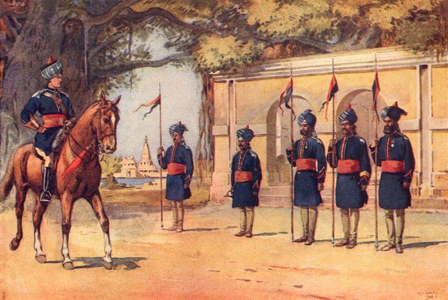 Associate Product 10TH DUKE CAMBRIDGE'S LANCERS. Quarter Guard; Dogra; Sikh; Punjabi Pathan 1911