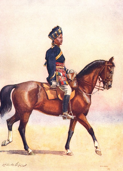 Associate Product INDIA. Army of East India Co. 12th Cavalry Jemadar Dogra 1911 old print