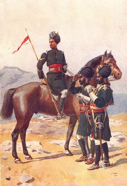 Associate Product HYDERABAD CAV. 20th Deccan horse Sikh 29th Lancers 30 Gordon Daffadar Jat 1911
