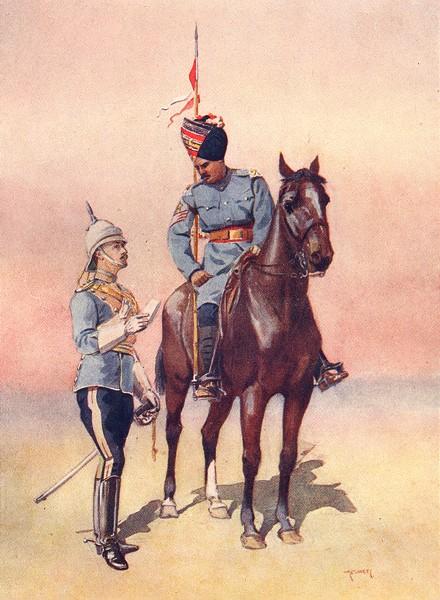 Associate Product INDIA. 26th King George's light Cav. Daffadar; 27th British Ofc.  1911 print