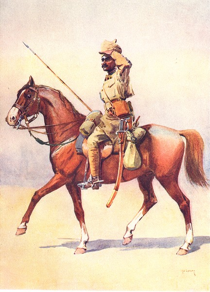 Associate Product INDIA. Mahratta Wars. 31st Duke Connaught's own Lancers Daffadar Dekhani 1911
