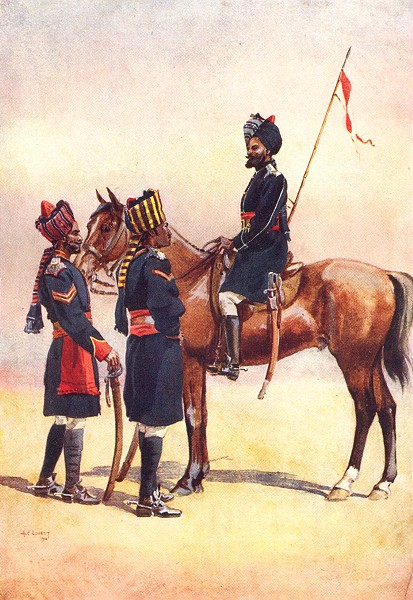 Associate Product INDIA. 32nd Lancers 33rd Queen's Light Cav 34th Prince Albert Victors Pune 1911