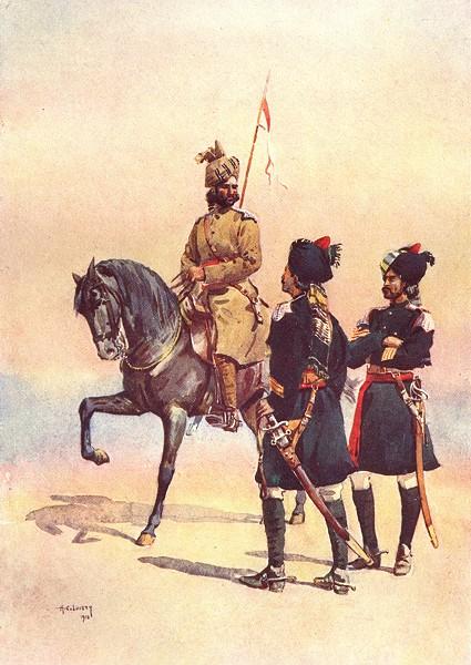 Associate Product INDIA. 35th Sindh horse Kot Daffadar Baluch; 36th Jacob's; 37th Lancers 1911