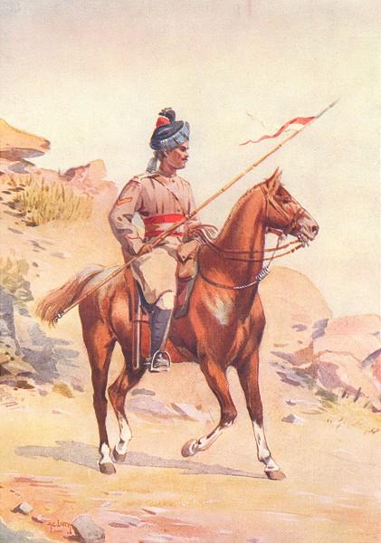 INDIA. 38th King George central horse Lance daffadar Gakkar Punjabi Muslim 1911