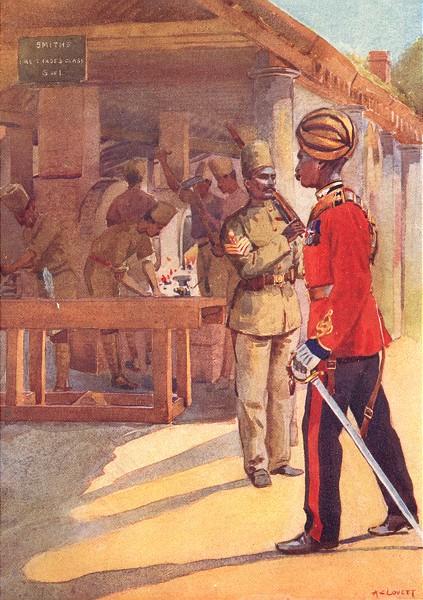 Associate Product INDIA. Queen's sappers miners Workshops Havildar; Christians Subedar 1911