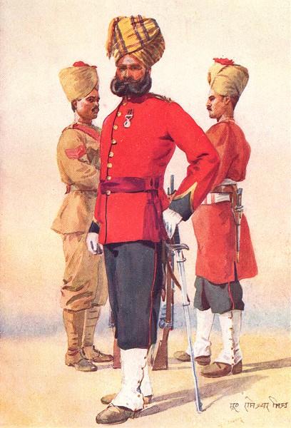 Associate Product INDIA. Mahratta Wars. 3rd Brahmans; Subedar; Oudh N-W Provinces 1911 old print