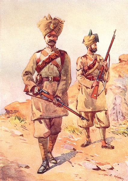 Associate Product INDIA. 20th Duke Cambridge Inf Lance Naik Malikdin Khel 30th Punjabi Awan 1911