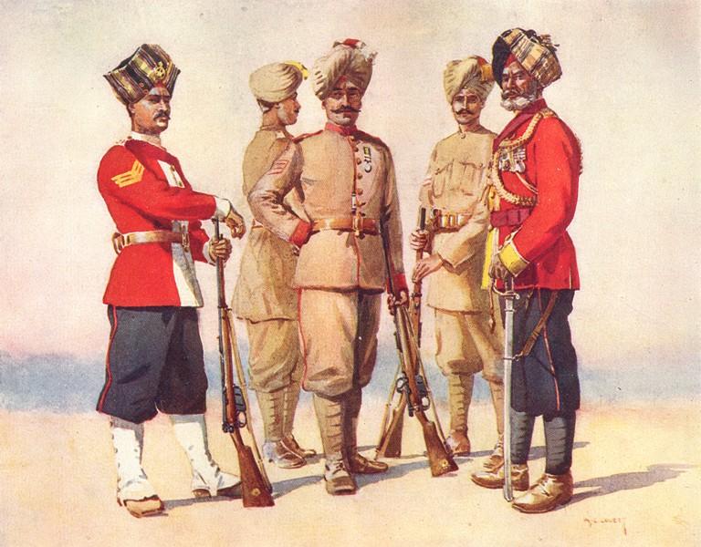 Associate Product INDIA. Dogras 27th Punjabs Havildar 31st Punjabi 37th 38th Subedar-Maj 41 1911