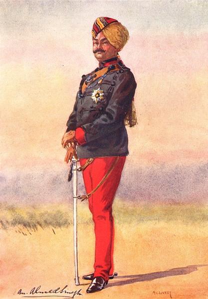 Associate Product INDIAN ARMY. 42nd Deoli Rgt Hon Maj Umed Singh Bahadur Maharao Kota Rajput 1911