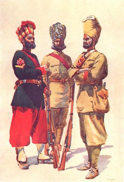 Associate Product INDIA. 43rd Erinpura Rgt Havildar Mina 44th Merwara Inf Mer 108 Kaimkhani 1911
