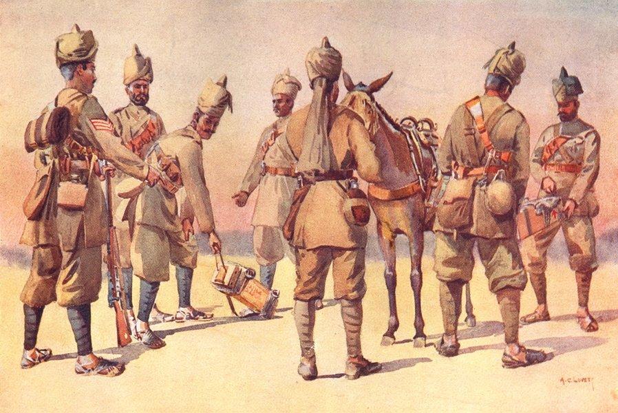 46TH 33RD PUNJAB AFRIDIS. Havildar Orakzai Zakka Khel Kuki Malikdin Kambar 1911