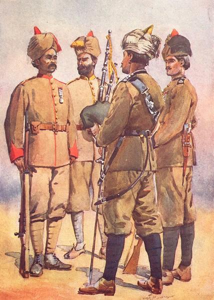 Associate Product FRONTIER FORCE. 51st Sikh Piper Punjabi; 56th Sagri Khattaks; 59th Sindh 1911