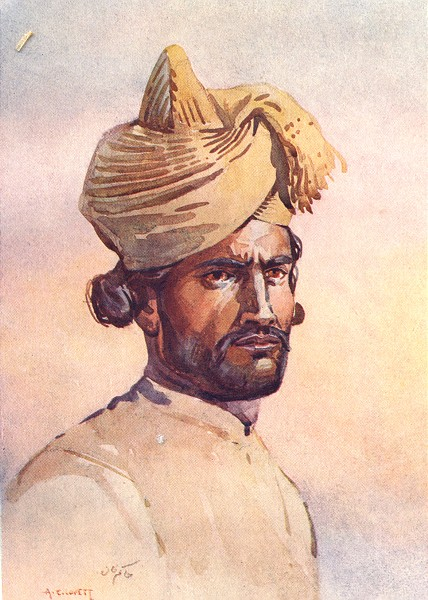 Associate Product INDIA. 82nd Punjabis Awan(Punjabi Musalman) 1911 old antique print picture