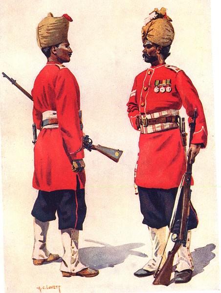 Associate Product INDIA. 101st Grenadiers Naik Punjabi Muslim; 102nd King Edward's Bagri Jat 1911