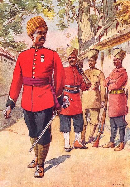 Associate Product INDIA. Mahratta Inf 110th light 103rd Subedar Dekhani 116th 114th Konkani 1911