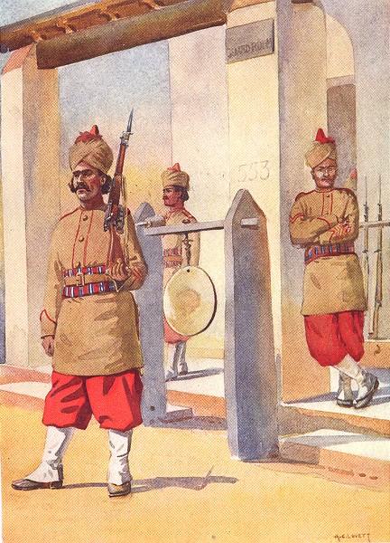 Associate Product 124TH DUCHESS CONNAUGHT BALUCHISTAN INF. Quarter Guard Naik Khattak Hsara 1911