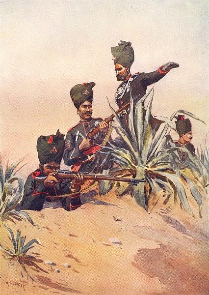 Associate Product INDIA. 125th Napier rifle Subedar-Maj Jat Jaipur Havildar Punjabi Musalman 1911