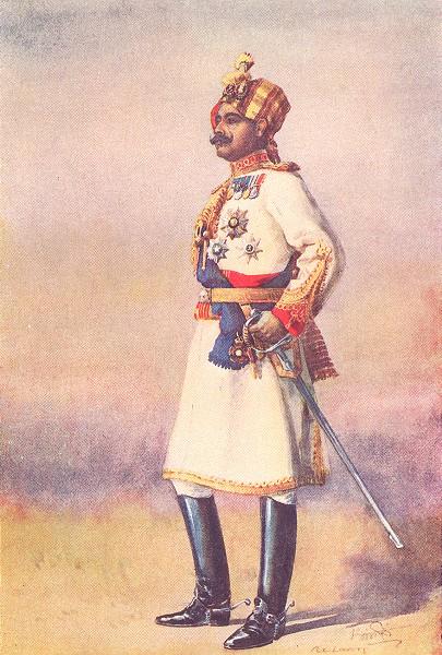 Associate Product COL MAHARAJA SIR GANGA SINGH, BAHADUR OF BIKANER. Commandant Risala 1911 print