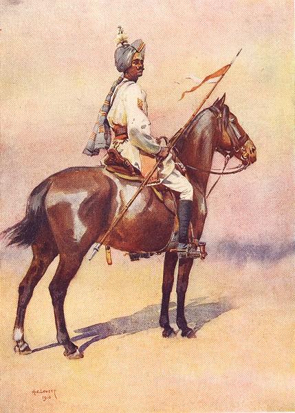 Associate Product INDIA. The Indian Army. Jodhpur Sardar risala Ratore Rajput 1911 old print