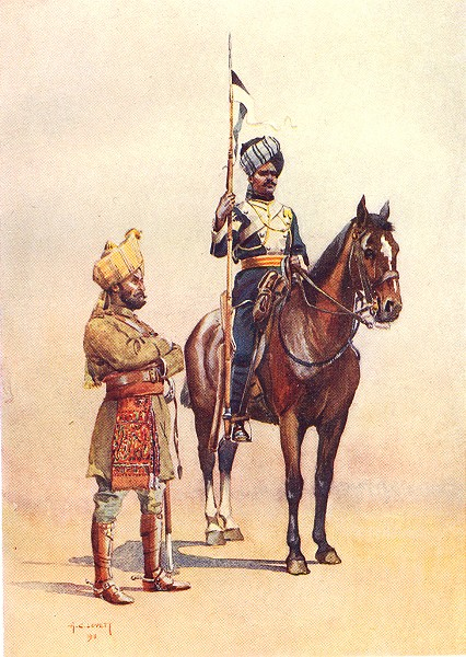 Associate Product INDIA. Army Native States. Mysore transport corps Muslim; Lancers Madrasi 1911