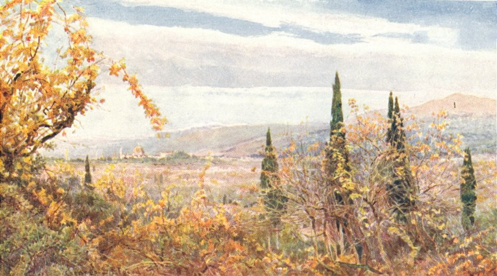 Associate Product ITALY. & out of a valley grapes & grain there blossoms a domes & towers 1907