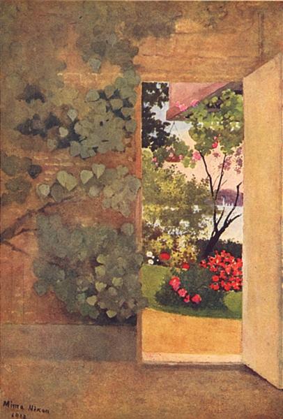 Associate Product DENMARK. The Open Door, Villa Hvidore 1916 old antique vintage print picture